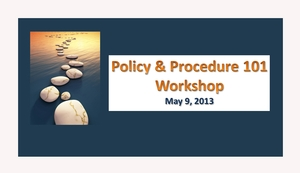 Policy & Procedure Workshop